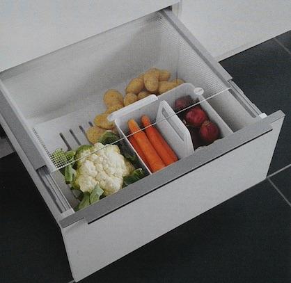 Sistema de ordenamiento Pantry Box para verduras