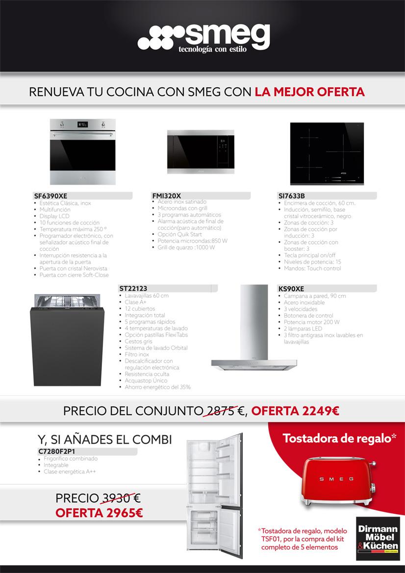 Kit SMEG promoción cocinas Dirmann